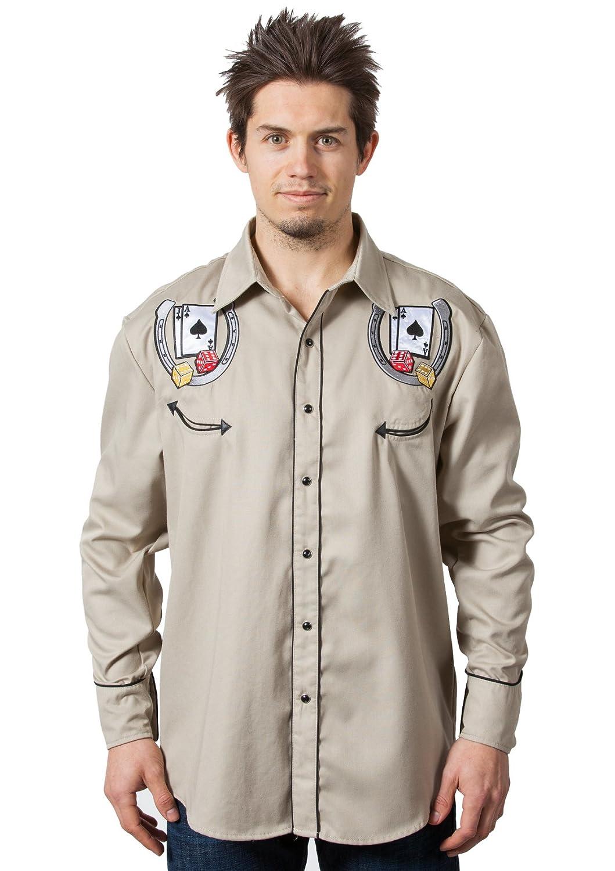 Bennys Las Vegas Casino Blackjack Dice Western Shirt