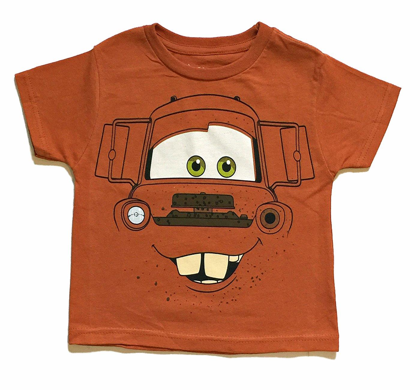 Disney Cars 3 Little Boys Tow Mater Character T Shirt (4T)