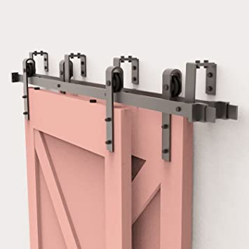 Fullhouse - Kit de herramientas para puerta corredera, diseño rústico, color negro, para garaje, armario, interior y exterior, uso en puertas silenciosas y lisas: Amazon.es: Bricolaje y herramientas