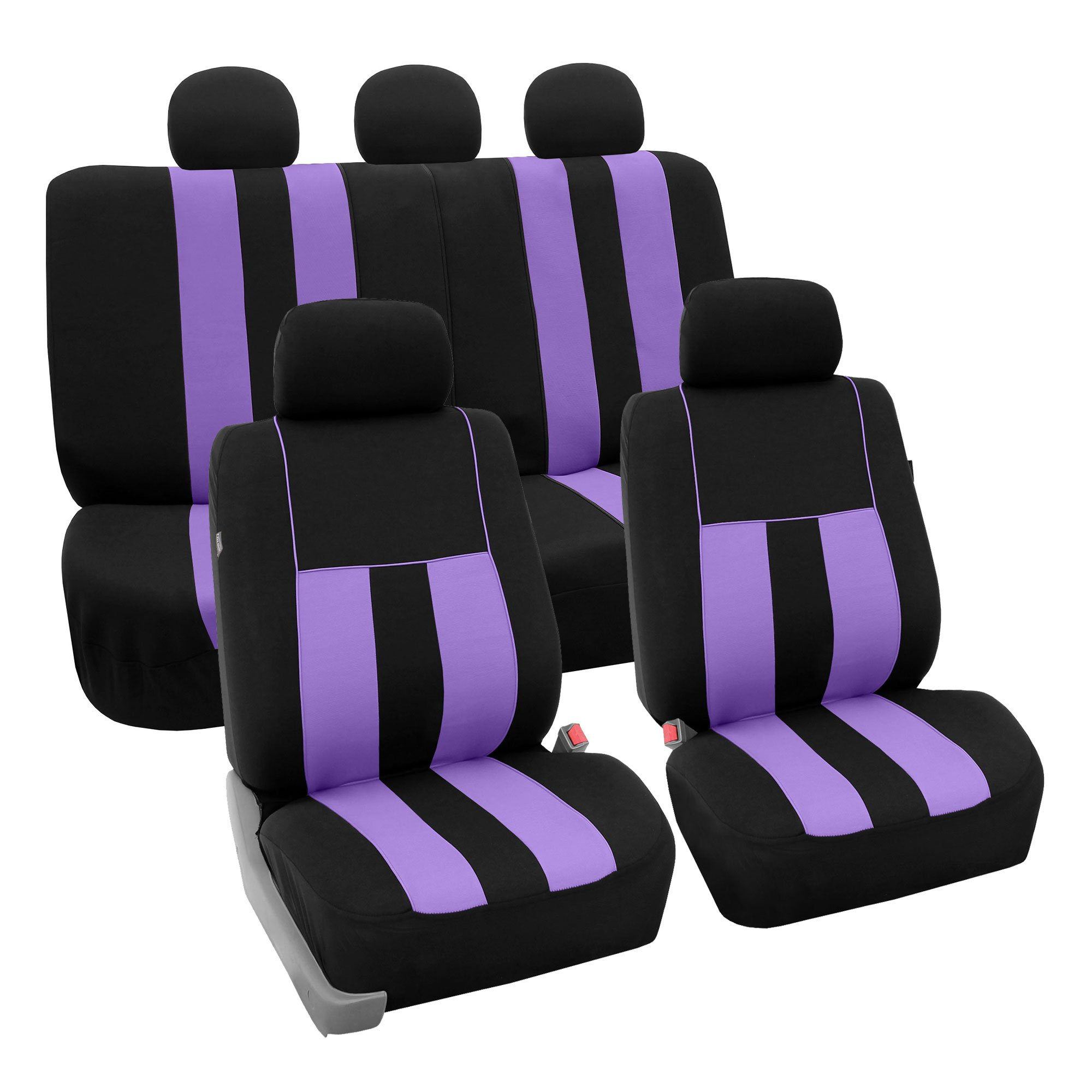 FH Group FB036PURPLE115 Seat Cover (Airbag Compatible and Split Bench Purple) by FH Group
