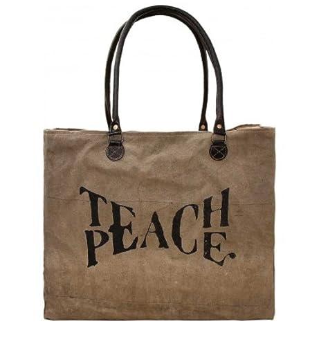Amazon.com: Enseñar la paz Vintage adicción Oversized ...