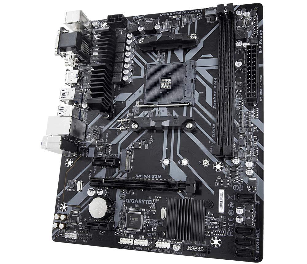 Gigabyte Technology - Placa base B450M S2H AM4 B450 MATX: Gigabyte ...