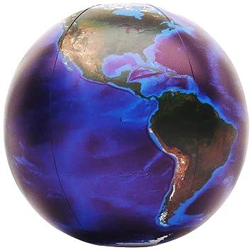 Amazon.com: Inflable mármol azul globo terráqueo, 12