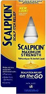 Scalpicin Maximum Strength Scalp Itch Liquid Treatment- For Relief From Itchy Scalp, Psoriasis, Eczema & Seborrheic Dermatitis With Hydrocortisone & Aloe Vera, 1.5 oz (Pack of 2)