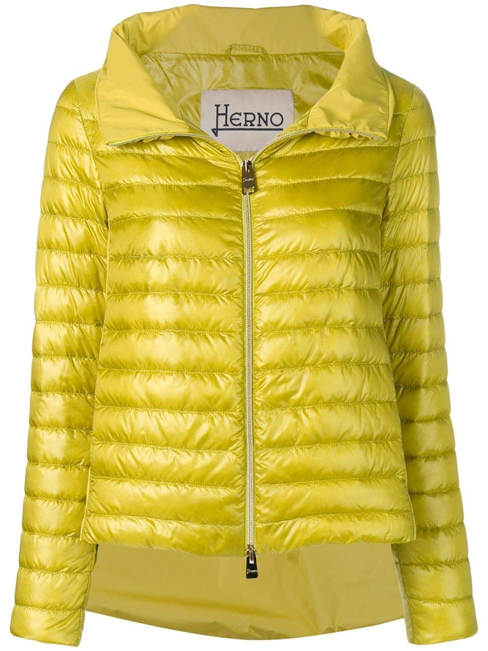 Brand Size 44 HERNO Women's PI0927D120173600 Yellow Polyamide Down Jacket