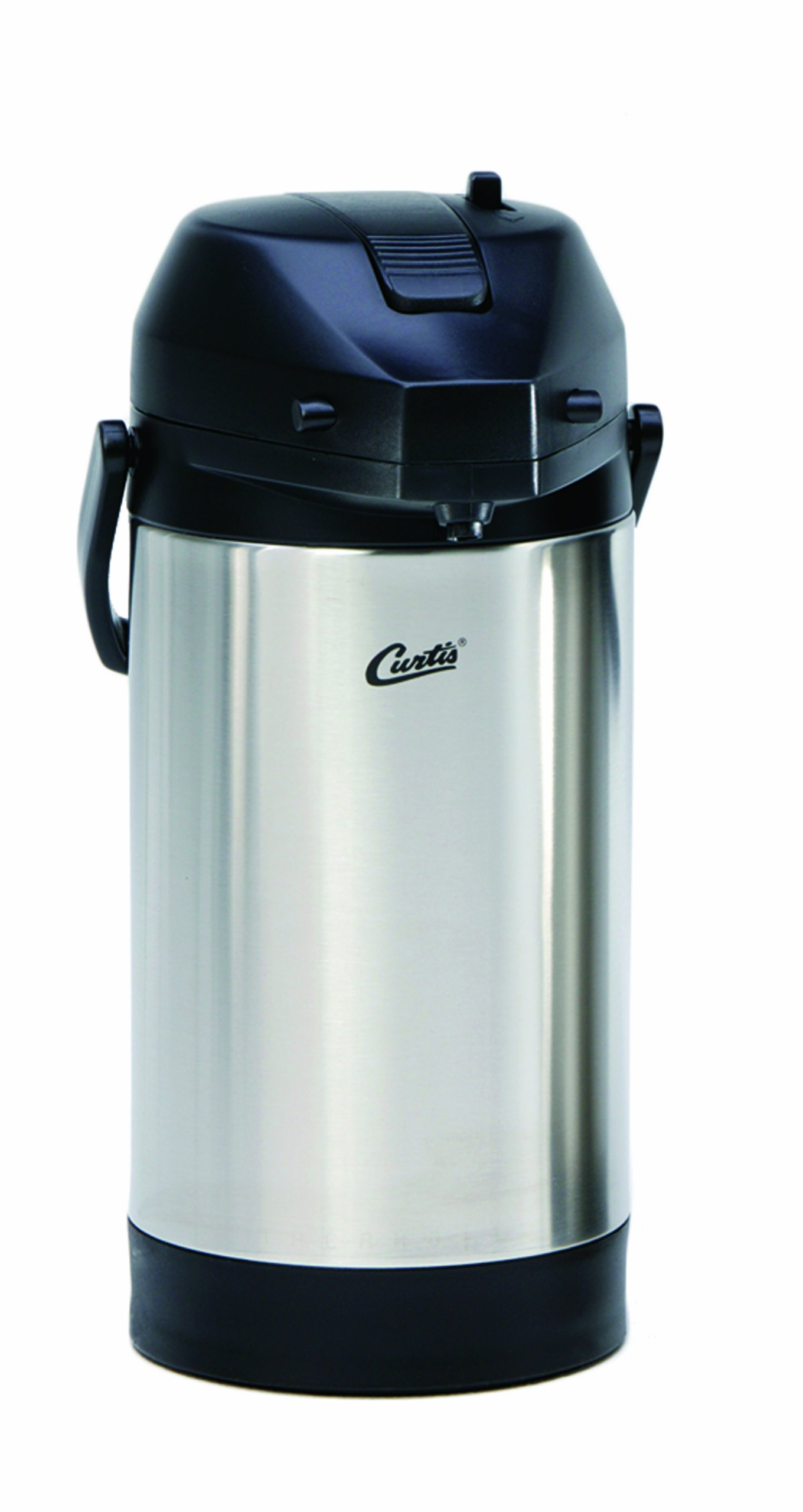 Wilbur Curtis Thermal Dispenser Air Pot, 2.5L S.S. Body S.S. Liner Lever Pump - Commercial Airpot Pourpot Beverage Dispenser - TLXA2501S000 (Each) by Wilbur Curtis