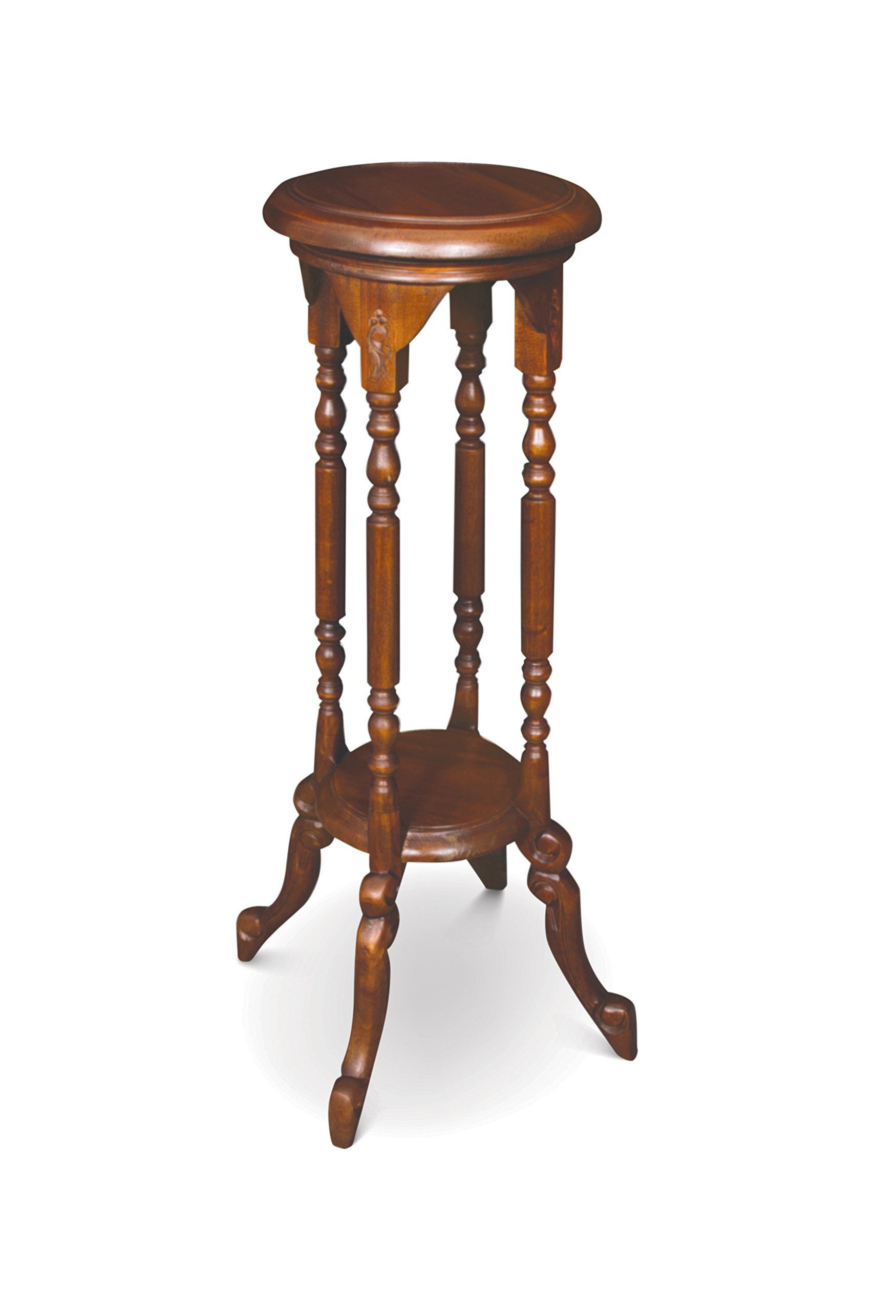 NES Furniture nes10046 31'' Fine Handcrafted Furniture Solid Mahogany Wood Felicity Plant Stand, Pine