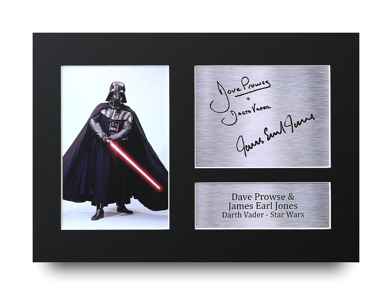 Foto stampa di Dave Prowse e James Earl Jones (Star Wars, Darth Vader), in formato A4con autografi, idea regalo HWC Trading