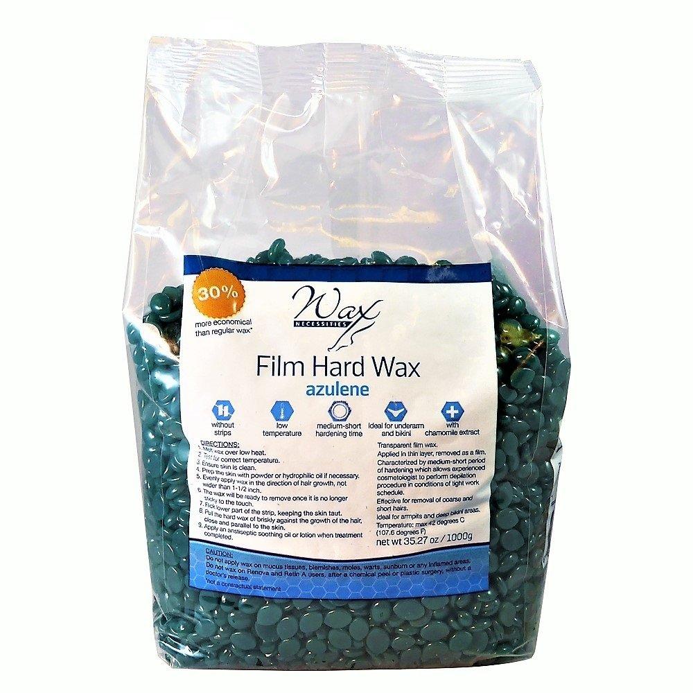 Wax Necessities Film Hard Wax Beads Azulene 35.27 oz/2.2 lb
