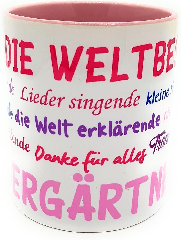 Danke Tasse Für Erzieherin Kindergärtnerin Inkl Geschenkverpackung Sprüche Kindergarten Abschied Geburtstagsgeschenk Weiß Mit Wunschname
