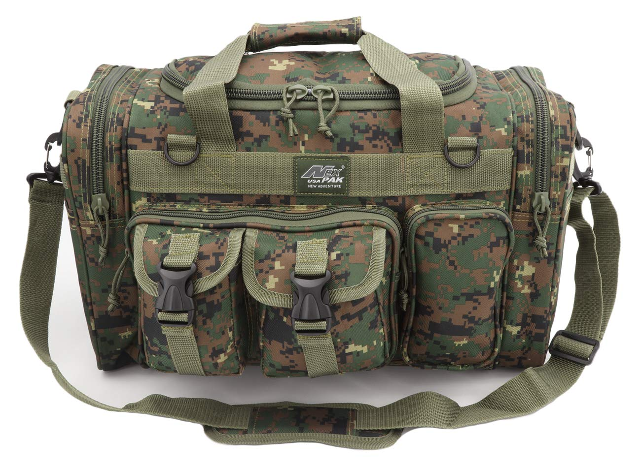 Nexpak USA TF118MRD ACU Marine Brown Digital Camo 18 in Duffel Duffle Tactical Molle Range Carry On Shoulder Bag 1728 Cu in by Nexpak