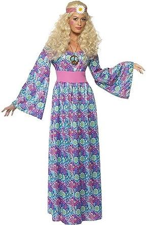 Amazon.com: Disfraz de Hippie Hippy, largo de 1960s 1970s ...