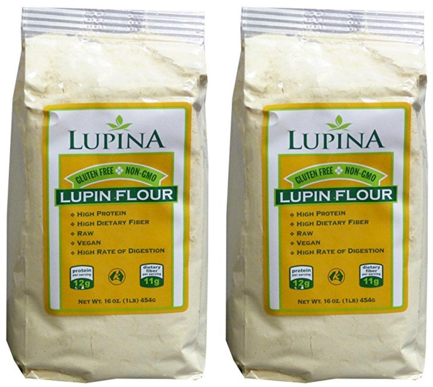 Lupin Flour Gluten Free, High protein, Fiber-Rich Lupina 2 Pack