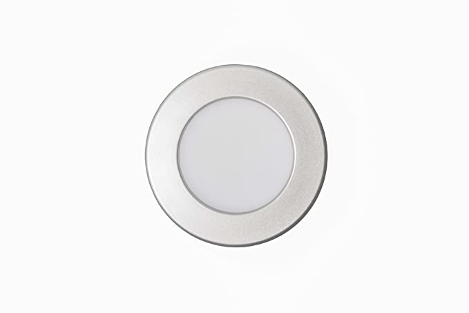 lineteckled® a05.001.12 F Panel LED redondo empotrable con borde plateado 12 W luz