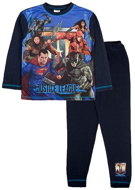 Justice League - Pijama Dos Piezas - Manga Larga - para niño Azul Azul/Azul