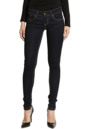 febcaaf68e6c TheMogan Women s indigo Rinced Rayon Denim Low Rise Skinny Jeans Dark Blue 0