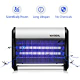 Indoor Bug Zapper - Mosquito Trap Indoor Mosquito Killer Insect Trap Mosquito Zapper Night Lamp Fly Trap , Ideal for Home Commercial Industrial Use 19Watts, 538 SQ.FT Coverage. FULL REFUND GUARANTEE