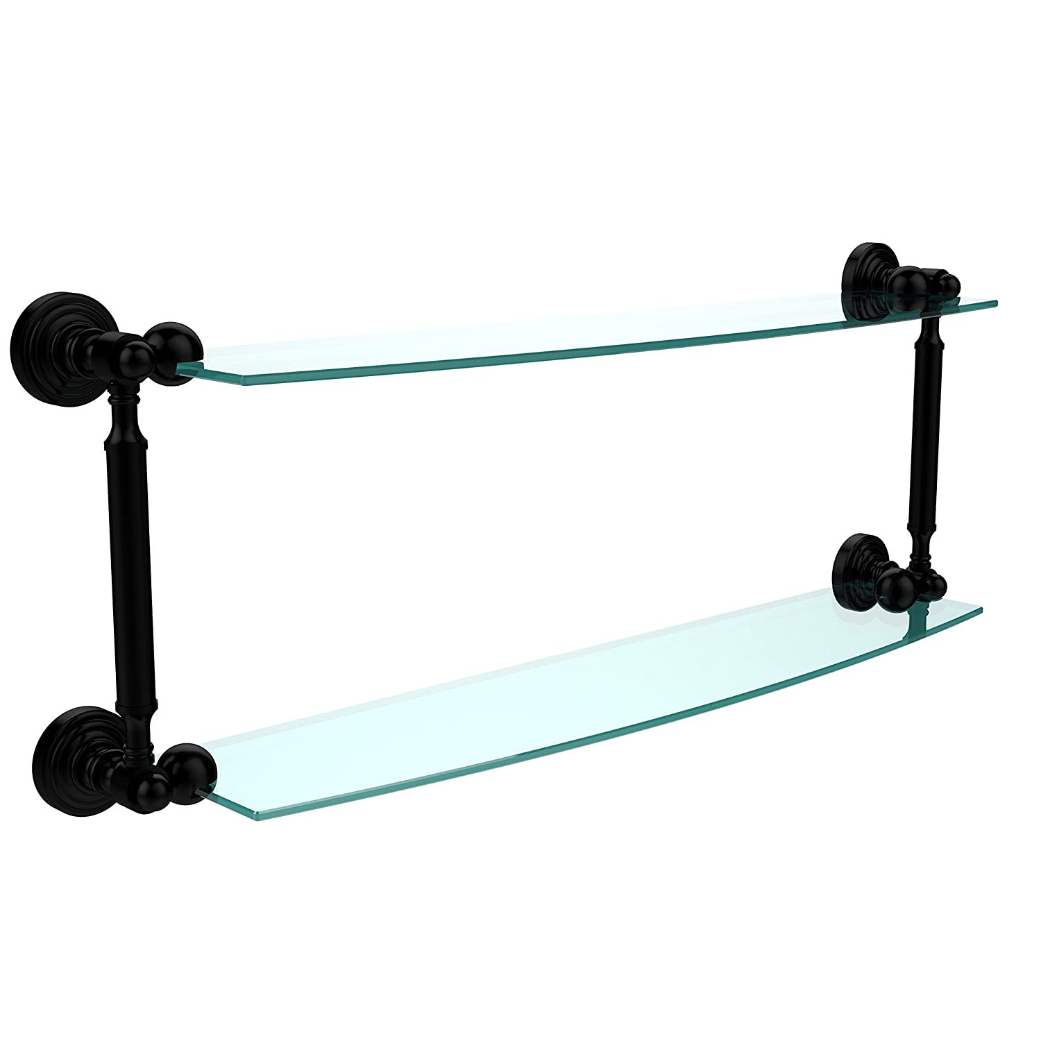 Allied Brass WP-34//18-ABZ Waverly Place Collection 18 Inch Two Tiered Glass Shelf Antique Bronze