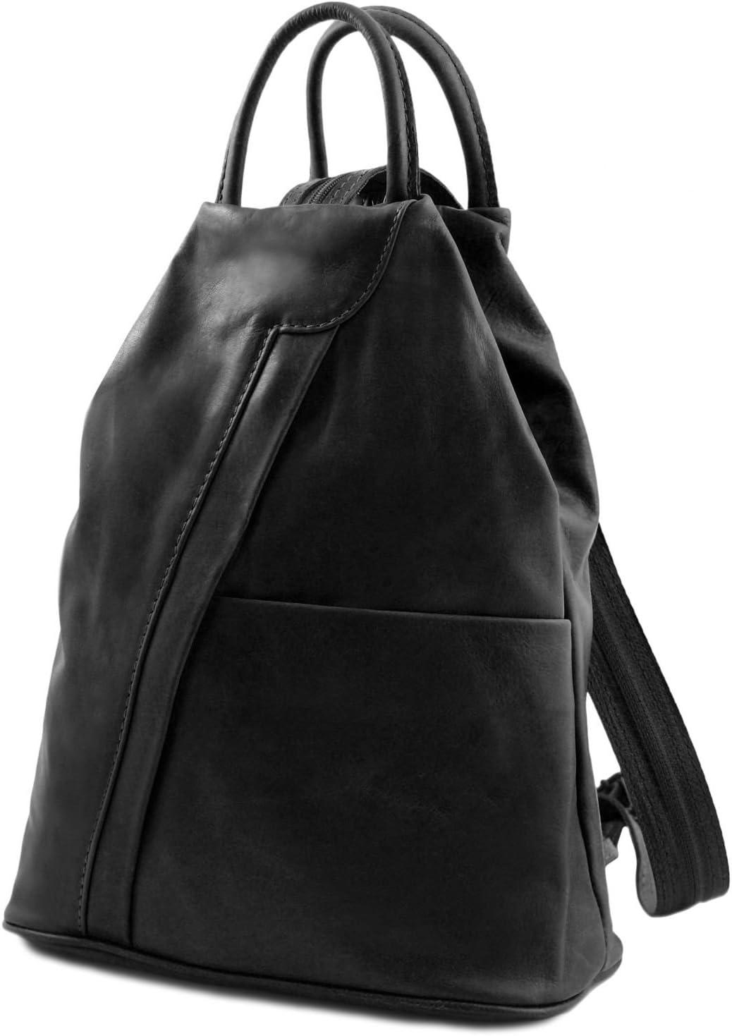 Shanghai Dark Blue TL140963 Tuscany Leather Leather backpack