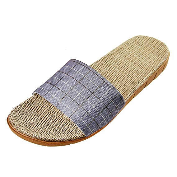 Sandalias antideslizantes - Chanclas ligeras, zapatillas de baño de lino