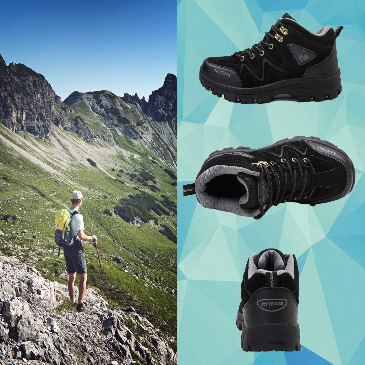 メンズウォーキングシューズ 透湿防水 通気性 登山靴(green 26)