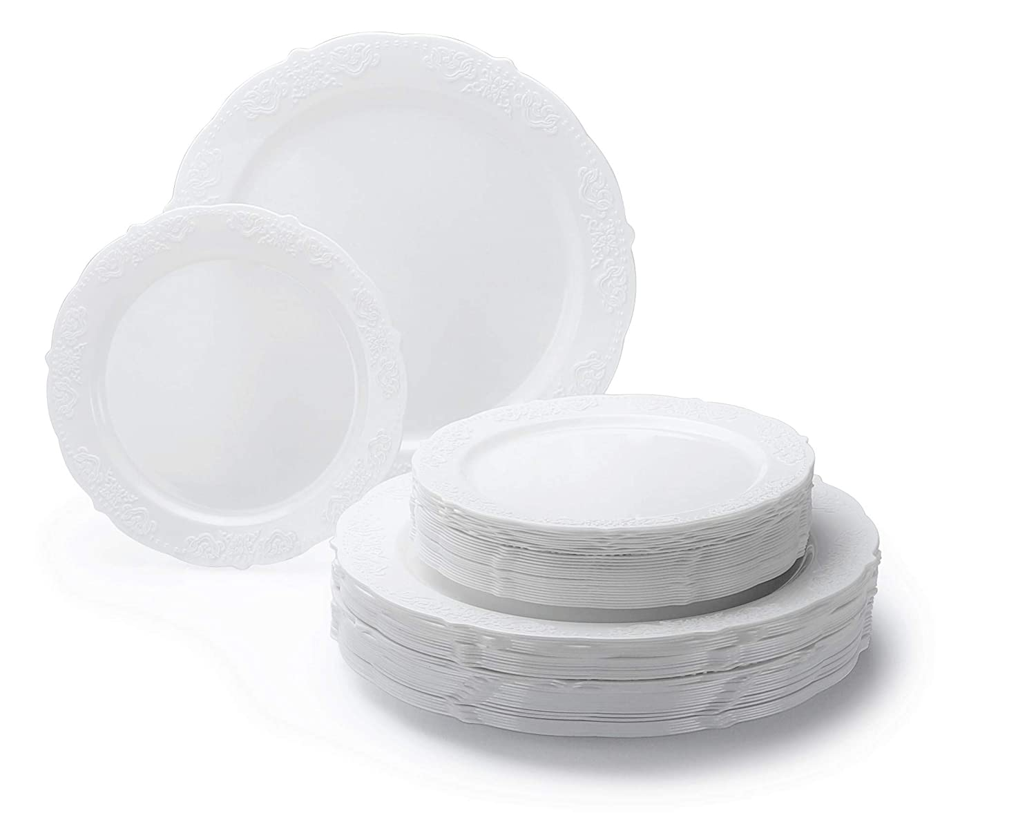Amazoncom Occasions 50 Piece Party Disposable Dinnerware Set