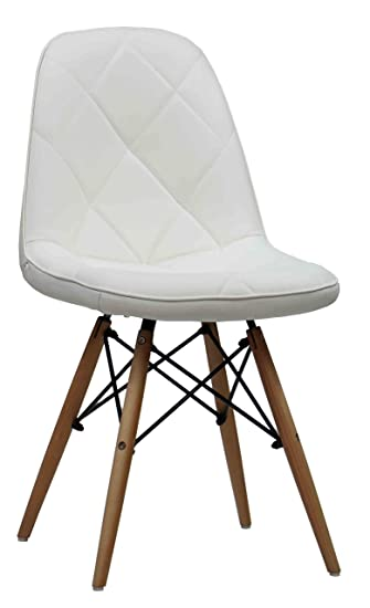 Finch Fox Wooden Cushioned Dining /Cafe Chair (White)