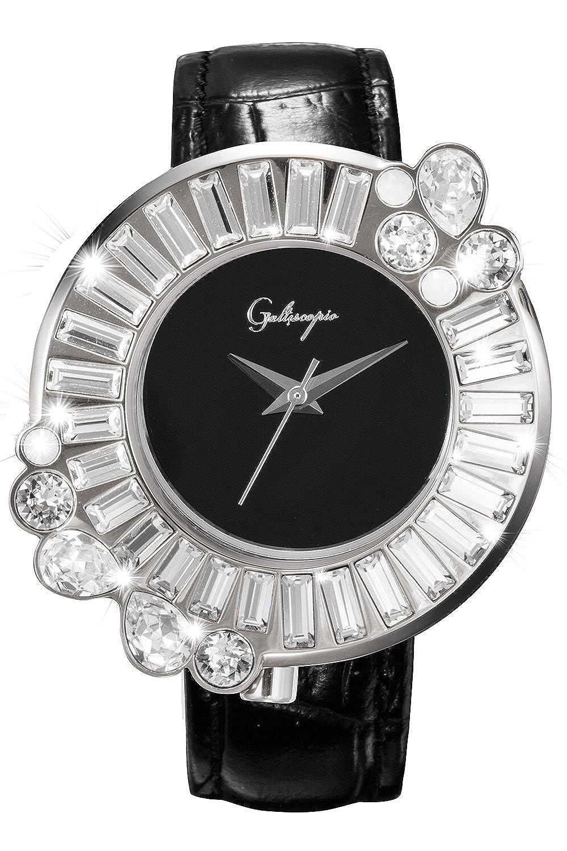 [ガルティスコピオ] Galtiscopio レディース腕時計SHINY ROCKINGSR4 ブラック/シルバー キラキラ グルグル時計 スワロフスキー 日本正規総代理店 [正規輸入品] [時計] B07BR9Q6KR