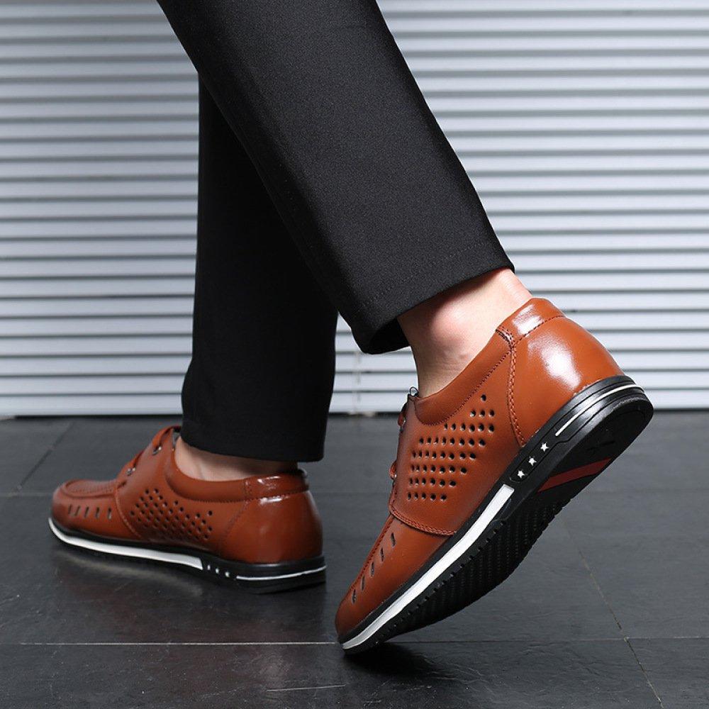 YXLONG Sommer Neue Coole Schuhe Männer Schuhe Hohlen Sandalen Männer Casual Schuhe Männer Täglich Männer Schuhe Atmungsaktive Loch Schuhe ROTBraun 8864f2