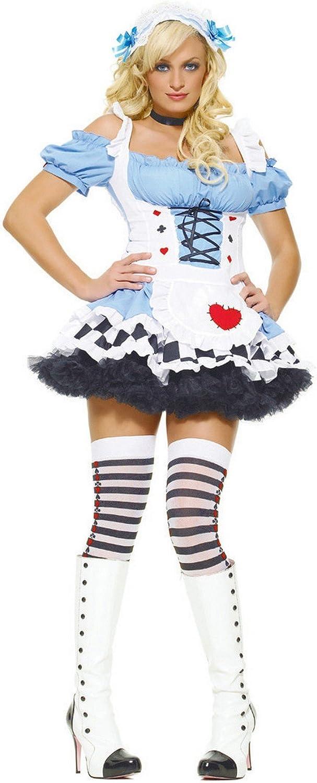 Leg Avenue Disfraz de Alicia en el país de las maravillas, sexy, para mujer: Amazon.es: Juguetes y juegos