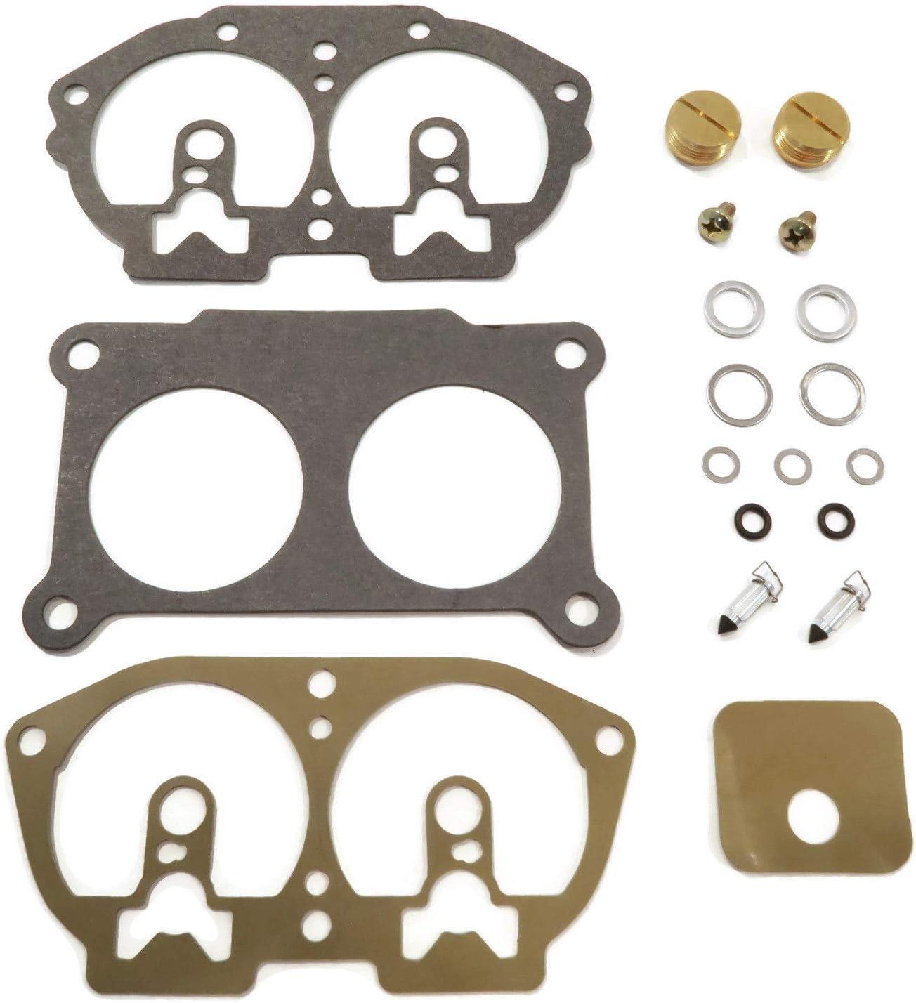 The ROP Shop | Carburetor Repair Kit Includes Clips, Valve Needles, Pilot Jet Plugs, Gaskets