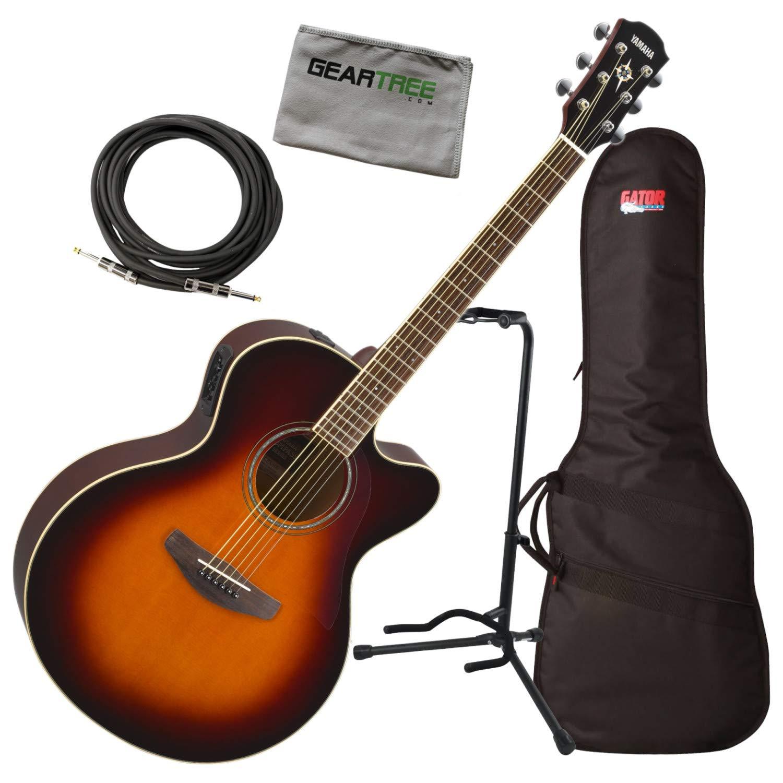 Yamaha CPX600 OVS - Guitarra acústica (tamaño mediano, incluye ...