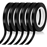 Audab 6 Rolls 1/4 Pinstripe Tape Vinyl Chart Tape White Board Tape Lines Dry Erase Whiteboard Thin Tape Pinstriping Graphic G