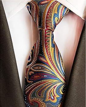 BESMODZ Classy - Corbata de seda para hombre (5 unidades, con ...