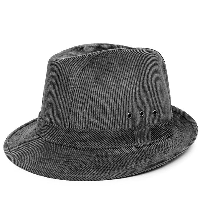 Cappello Cappelli uomo Papà in autunnali e invernali Cappelli Cappelli di  jazz Caldo cappello di moda Autunno centrale e vecchio cappello-B Unica  ... 6c559821927a