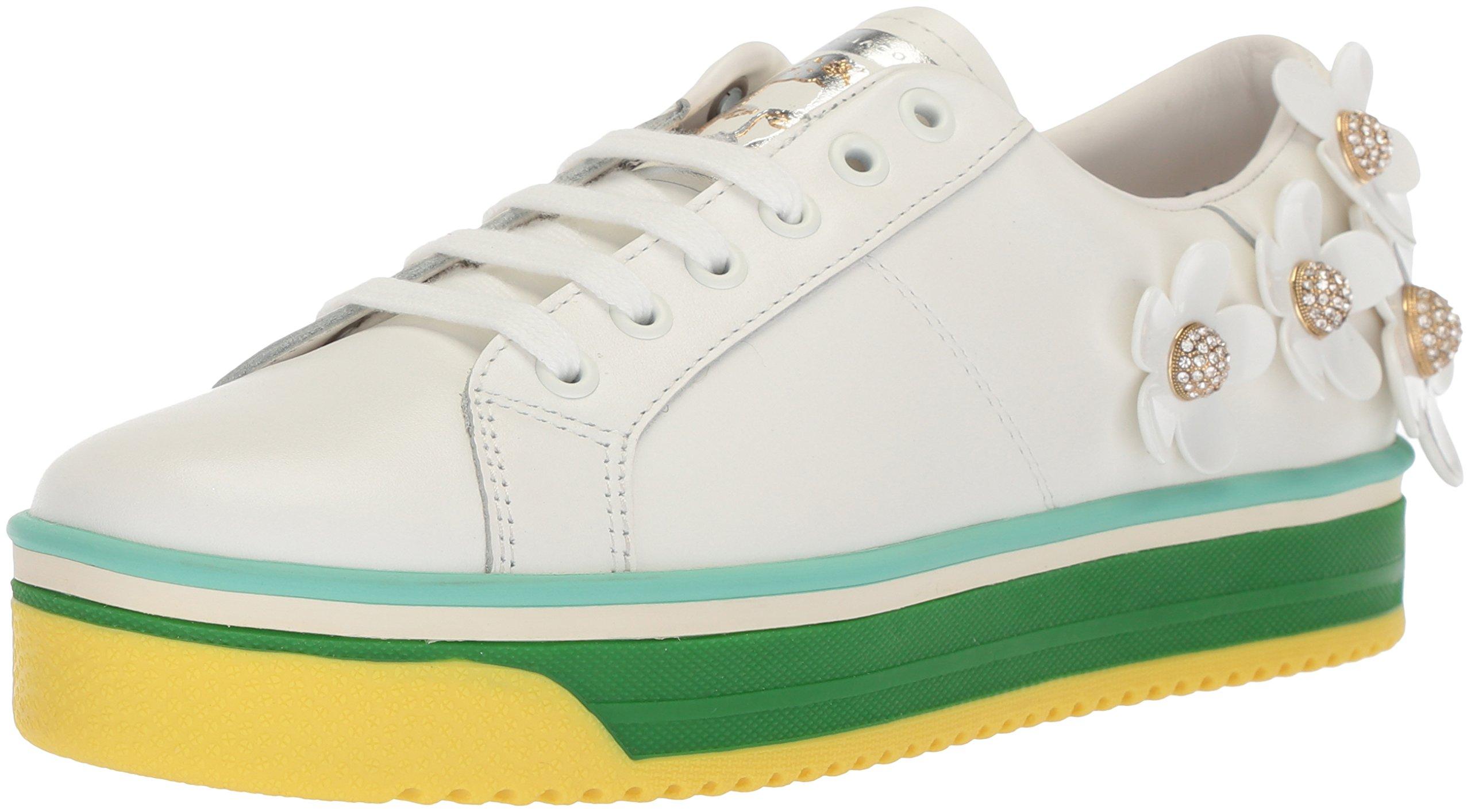 Marc Jacobs Women's Daisy Multi Color Sole Sneaker, White, 37 M EU (7 US)