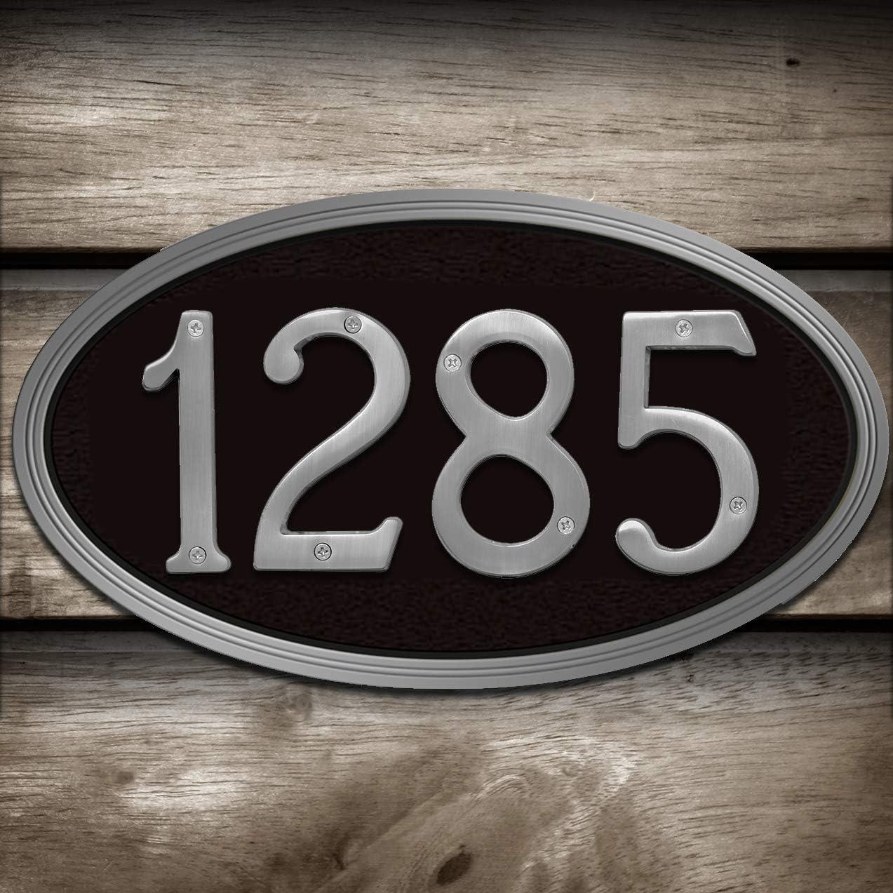 """NIB HY-KO 4"""" Satin Nickel House Number #3 Free Shipping BR-43SN"""