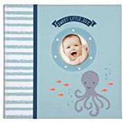 C.R. Gibson Under The Sea Nautical Themed Baby Boy Photo Album, 40 pgs, 9  x 8.125