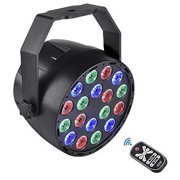 DJ Par Luz RGB Etapa del LED enciende la iluminación de la etapa Etapa de iluminación DMX512 Etapa Luz Giratoria Cabeza Móvil Canales RGB Color: Amazon.es: ...