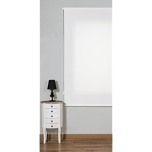 Maison Decor Dynamic Screen Estor Enrollable, Tela, Blanco, 90 x 250