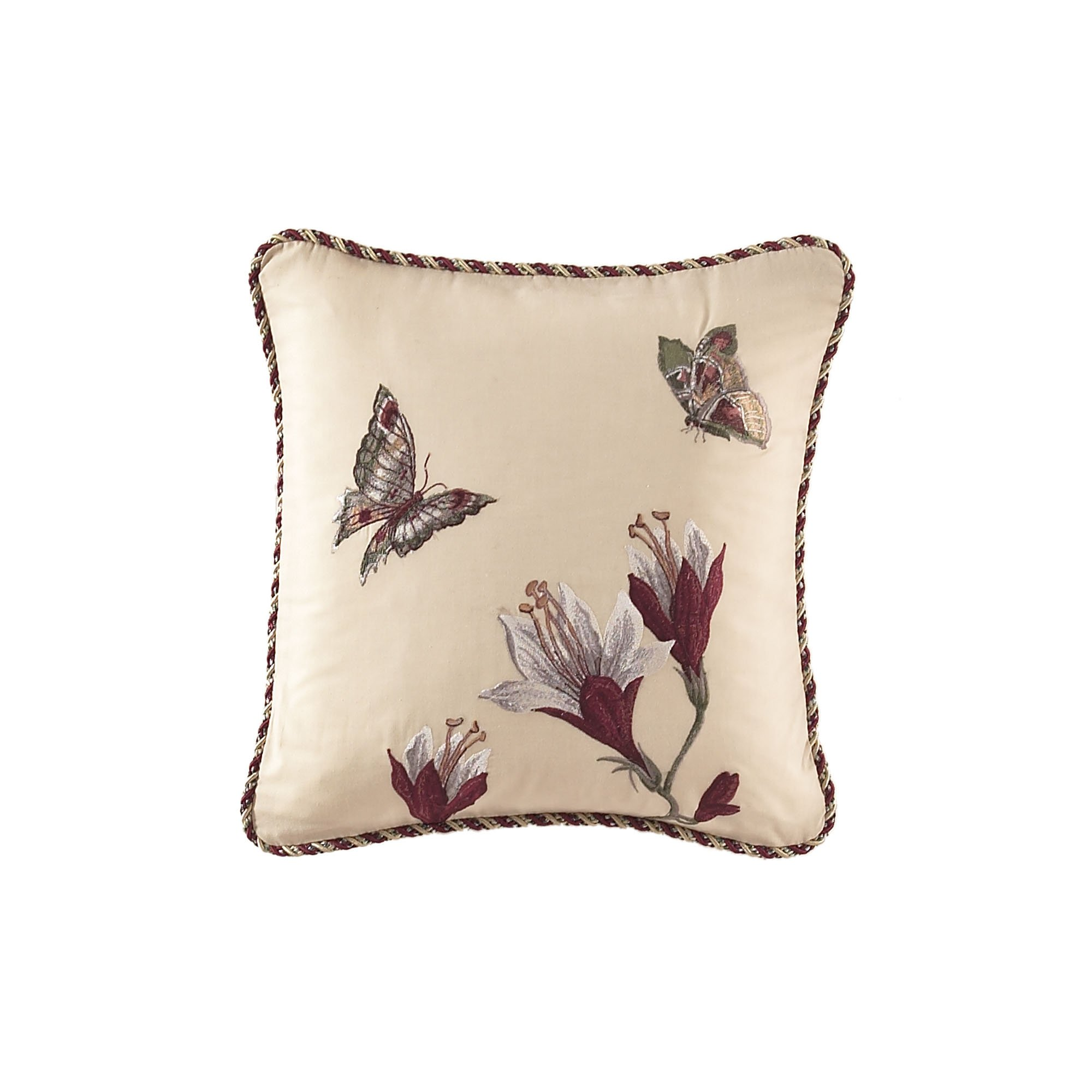 WAVERLY 13155016X016MUL Laurel Springs 16-Inch 16-Inch Embroidered Accent Pillow, Multi