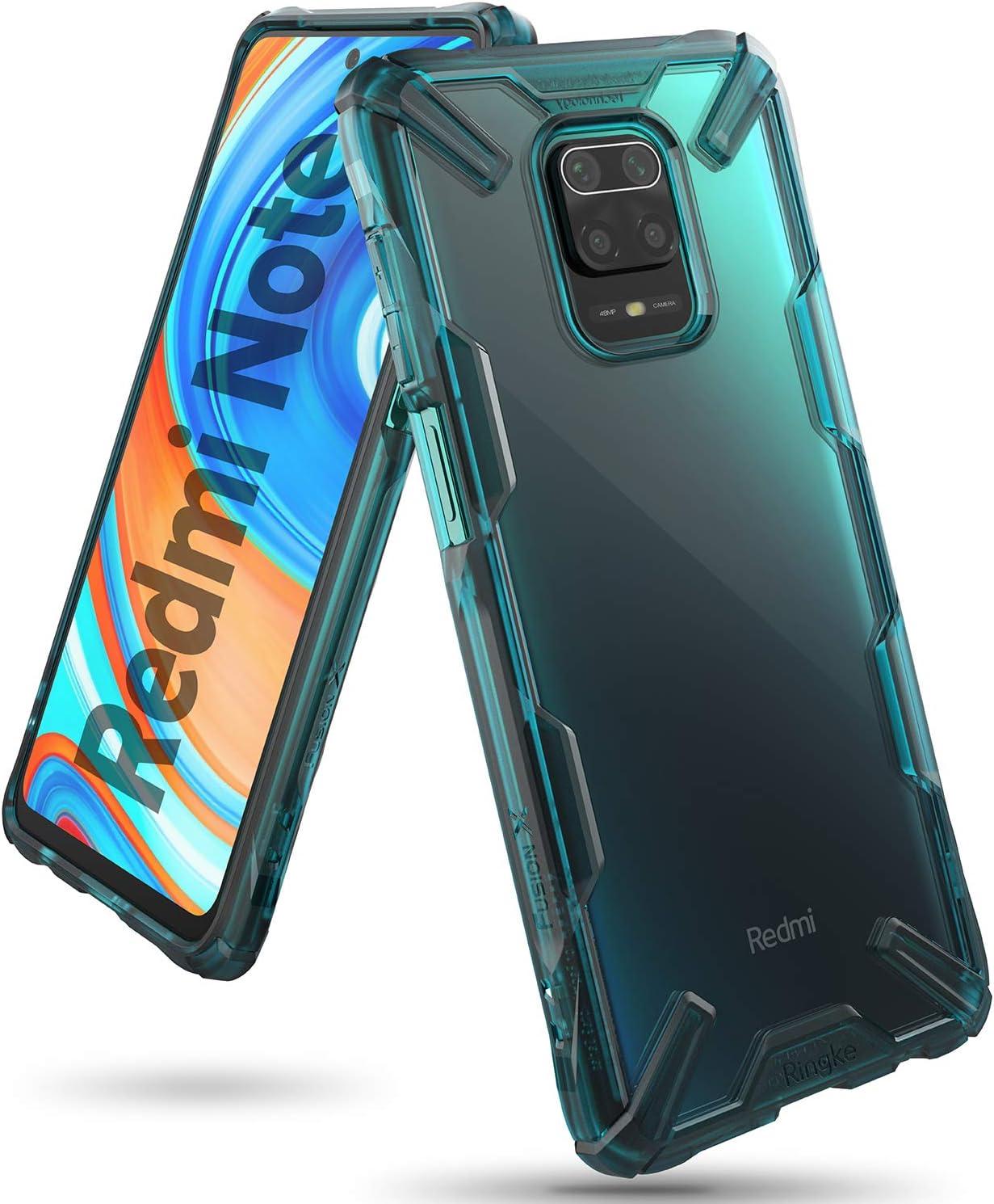 Ringke Fusion-X Diseñado para Funda Xiaomi Redmi Note 9 Pro (2020), Carcasa Redmi Note 9S, Parachoque Resistente Impactos Funda Redmi Note 9S / Redmi Note 9 Pro (6.67 Pulgadas) - Turquoise Green