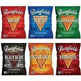 Beanfields Bean Chips, High Protein and Fiber, 6 Flavor Variety Pack: Nacho, Jalapeno Nacho, Sea Salt, Black Bean, Pico de Gallo, BBQ, 1.5 Ounce (Pack of 24)