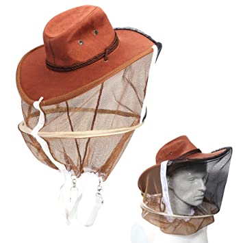 Bee Hat Beekeeping Mesh Net Head Face Protector Cap Fly Mosquito Outdoor Camping