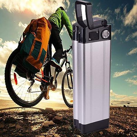 Batería eléctrica 36V 10Ah, Landcrossers Estilo de pescado Batería de litio-ion para bicicleta eléctrica Adecuado para 200-350W-Recharge 800 veces, Protección BMS para bicicleta eléctrica: Amazon.es: Deportes y aire libre