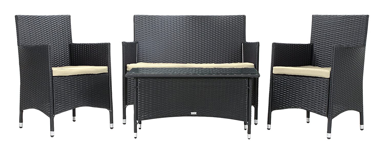 rattan4life 4 teilig avignon deluxe polyrattan gartenm bel set sofa lounge gartengarnitur. Black Bedroom Furniture Sets. Home Design Ideas