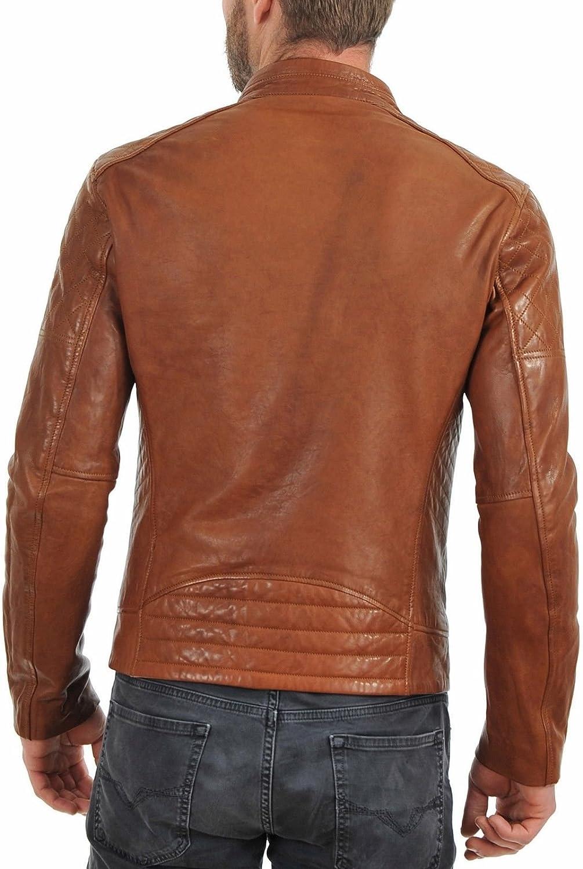 Koza Leathers Mens Lambskin Leather Jacket KM029