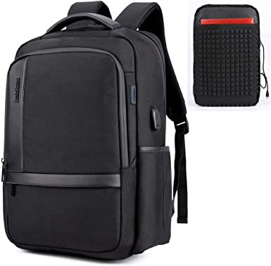 New Laptop Backpack Slim Business Computer Bag with USB Port Charger Men Women