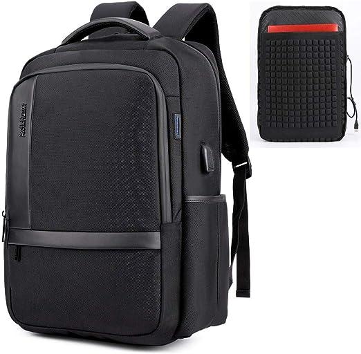 Men 15.6 inch Laptop USB Backpack Waterproof Travel School Computer Shoulder Bag