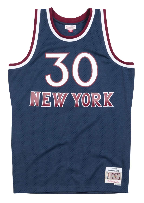 Mitchell & Ness Bernard King New York Knicks NBA スイングマン 82-83 ジャージー ネイビー Medium  B07GXX1643